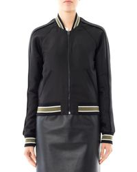 Balenciaga Black Sphinx Embroidered Bomber Jacket