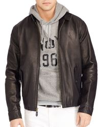Pink Pony | Black Polo Leather Barracuda Jacket for Men | Lyst