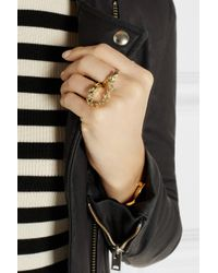Jennifer Fisher | Metallic Handcuff Gold-Plated Double Ring | Lyst