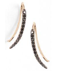 Kismet by Milka Black 'lumiere' Diamond Ear Crawlers