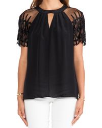 Alice By Temperley Black Everette Top