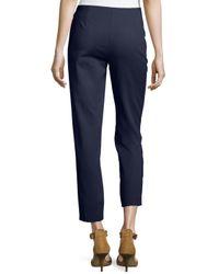 M Missoni Blue Slim Stretch-twill Ankle Pants