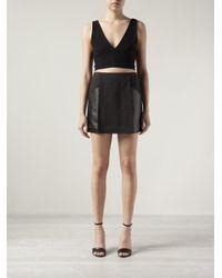 3.1 Phillip Lim - Black Paneled A-Line Skirt - Lyst