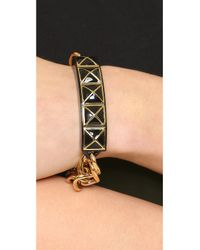 Rebecca Minkoff - Metallic Smartphone Notification Bracelet - Gold/black - Lyst