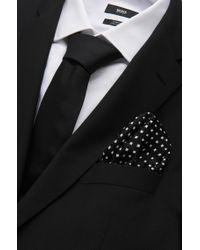 BOSS - Gray 'pocket Square 33 X 33' | Silk Patterned Pocket Square for Men - Lyst