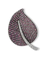 Kenneth Jay Lane | Multicolor Multi Pink Leaf Brooch | Lyst
