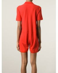 MM6 by Maison Martin Margiela | Red Polo Shirt Style Playsuit | Lyst