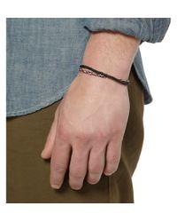 Luis Morais - Metallic Gold And Glass Bead Symbol Bracelet for Men - Lyst