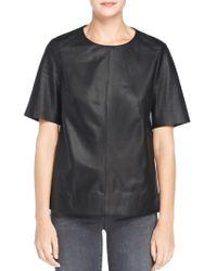 J Brand | Black Clark Leather Top | Lyst