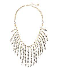 Nakamol - Metallic Diamond-Beaded Fringe Necklace - Lyst