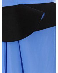 ROKSANDA Blue Howell Contrast-ruffle Silk Dress
