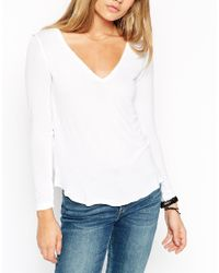 ASOS | White The New Forever T-shirt With Long Sleeves In Soft Touch | Lyst