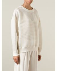 DKNY - Natural Oversize Sheer Sweater - Lyst