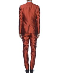 Dolce & Gabbana Red Suit for men