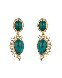 Alexis Bittar Green Gold Muse D'Or Drop Earring