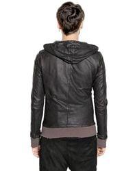 Giorgio Brato Gray Washed Nappa Leather Jacket for men