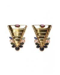 Lizzie Fortunato | Metallic Bianca Earrings | Lyst