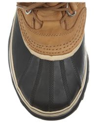 Sorel | Brown - Caribou Waterproof Suede And Rubber Boots - Tan | Lyst