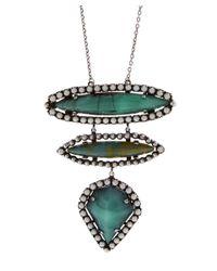 DANNIJO - Metallic Ivy Three Drop Necklace - Lyst