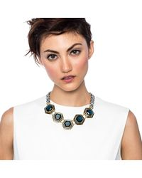Lulu Frost | Blue Nicandra Hex Necklace | Lyst