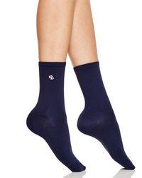 Ralph Lauren | Blue Microfiber Trouser Socks | Lyst