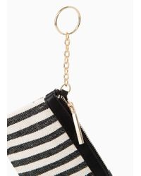 Mango Black Striped Coin Purse
