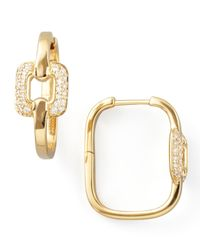 Mimi So - Metallic Piece 18K Gold Diamond Station Earrings - Lyst