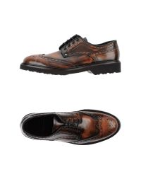 Paciotti 308 Madison Nyc - Brown Lace-Up Leather Oxfords for Men - Lyst