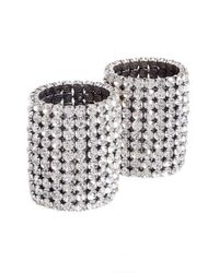 Vetements - Metallic Crystal Cuff Bracelets - Lyst