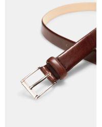 Mango - Brown Leather Belt for Men - Lyst