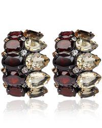 Iradj Moini - Brown Citrine And Garnet Clip-On Earrings - Lyst