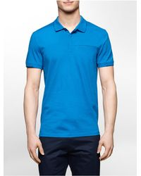 Calvin Klein - Blue White Label Ck One Color Tipped Cotton Polo Shirt for Men - Lyst