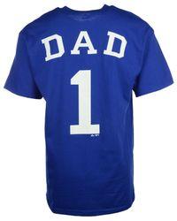 Majestic Blue Men's Short-sleeve Team Dad Kansas City Royals T-shirt for men