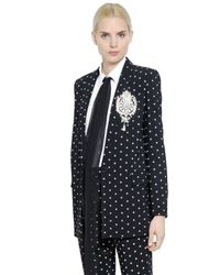 Givenchy | Black Crosses Printed Cady Jacket | Lyst