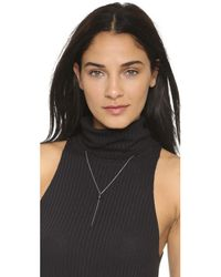 Samantha Wills - Metallic Outsiders Drop Necklace - Silver/onyx - Lyst