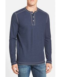 Tommy Bahama | Blue 'grand Thermal' Long Sleeve Henley for Men | Lyst
