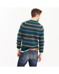 J.Crew Multicolor Lambswool Fair Isle Sweater In Forest for men