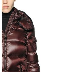 Moncler | Red Berre Brilliant Nylon Down Jacket | Lyst