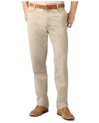 Dockers Natural D2 Straight Fit Off-The-Clock Flat Front Pants for men
