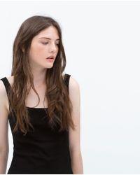 Zara | Black Tank Top | Lyst