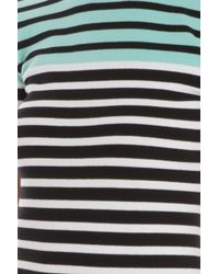 T By Alexander Wang | Multicolor Stretch Stripe Dress | Lyst