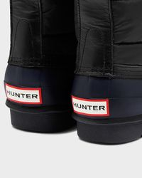 HUNTER Black Women's Original Quilted Lace Up Boots
