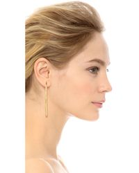 Aurelie Bidermann | Metallic Engraved Hoop Earrings | Lyst
