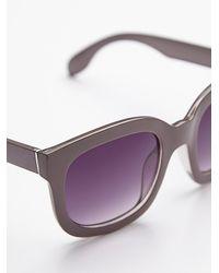 Free People | Purple Womens Maui Babe Oversized Sunglass | Lyst
