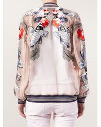 3.1 Phillip Lim - Natural Tattoo Embroidered Organza Jacket - Lyst
