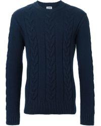 Edwin - Blue 'shackle' Sweater for Men - Lyst