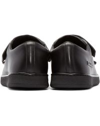 Acne Black Triple Lo Leather Low-Top Sneakers for men