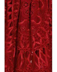 Emilio Pucci Red Offtheshoulder Silkchiffon Tunic Dress