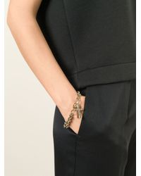 Givenchy Metallic Crucifix Charm Bracelet