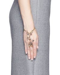 Erickson Beamon | Multicolor 'botanical Garden' Swarovski Crystal Floral Chain Bracelet | Lyst